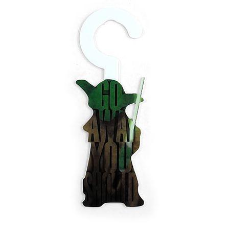 Aviso de Porta Mestre Yoda Star Wars