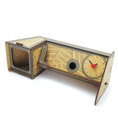 Relógio de Mesa e Amplificador para Celular Vitrola