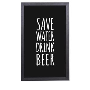 Quadro Porta Tampinhas de Cerveja Save Water Drink Beer