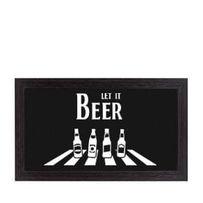 Quadro Porta Tampinhas de Cerveja Horizontal The Beatles Let it Beer