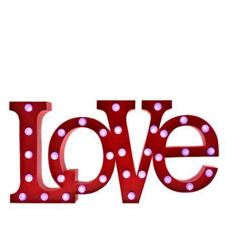 Luminária de Metal Palavra Love Amor - Led