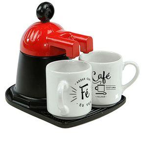 Mini Cafeteira Café com duas Xícaras