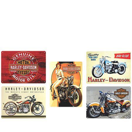 Kit Placas Decorativas em MDF HarleyDavidson - 5 unidades