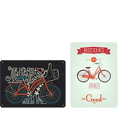 Kit Placas Decorativas em MDF Bicicleta Bike - 2 unidades