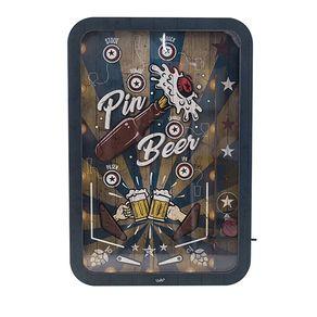 Quadro Porta Tampinha de Cerveja Fliperama Pin Beer