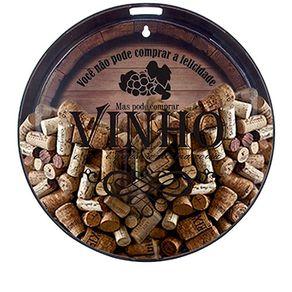 Quadro Porta Objetos e Rolha Barril de Vinho