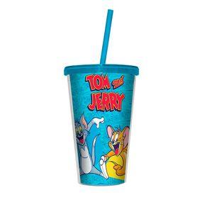Copo com Canudo Tom and Jerry Felizes Hanna Barbera
