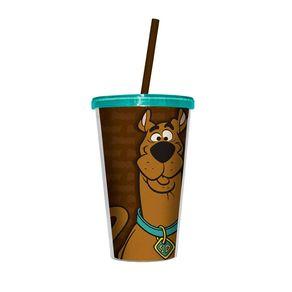 Copo com Canudo Scooby Doo Marrom Hanna Barbera