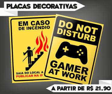 Promoção de Placas Decorativas