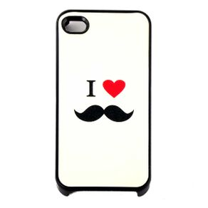Capa-para-Iphone-4-I-Love-Mustache-Branca-com-Purpurina