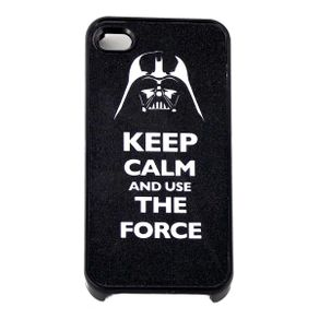 Capa-para-Iphone-4-Keep-Calm-and-Use-the-Force-Preta-com-Purpurina