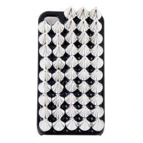 Capa-para-Iphone-4-Spikes-Prateados-Preta