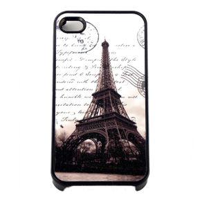 Capa-para-Iphone-4-Torre-Eiffel-Preta-com-Purpurina