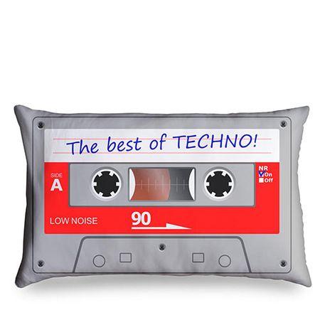 Almofada Fita Cassete K7 Retrô - The Best of Techno