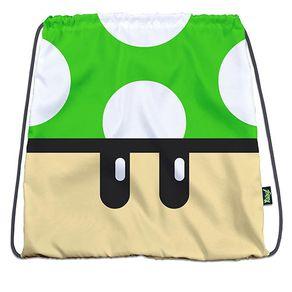 Mochila-Sacola-Super-Mario-Bros-Cogumelo-Verde-Geek