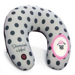 Almofada de Pescoço Massageadora Cachorro Pink Pug