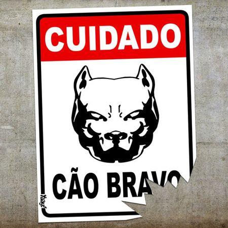 Placa Cuidado Cão Bravo com Mordida