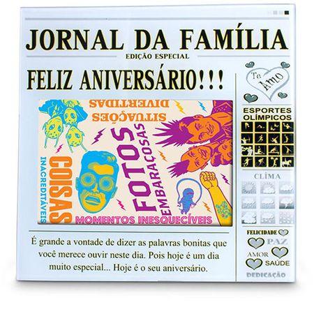 Porta Retrato Jornal da Família - Feliz Aniversário