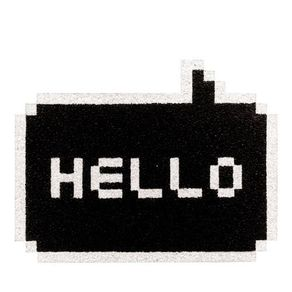 Capacho-Hello-Pixelado-Preto-Geek