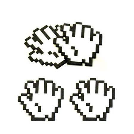 Porta Copos Mão Pixelada Geek - 4 peças