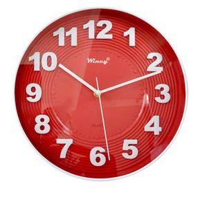 beb39b0f312 Relógio de Parede Wincy Vermelho