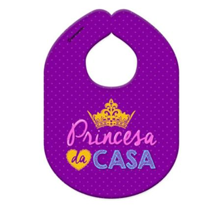 Babador Princesa da Casa Tecido