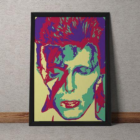 Quadro Decorativo David Bowie Colorido Vintage