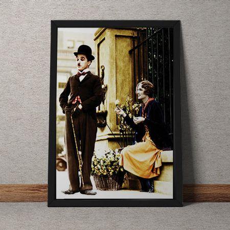 Quadro Decorativo Charles Chaplin Colorido