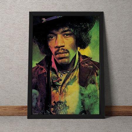 Quadro Decorativo Jimmy Hendrix Colorido Vintage