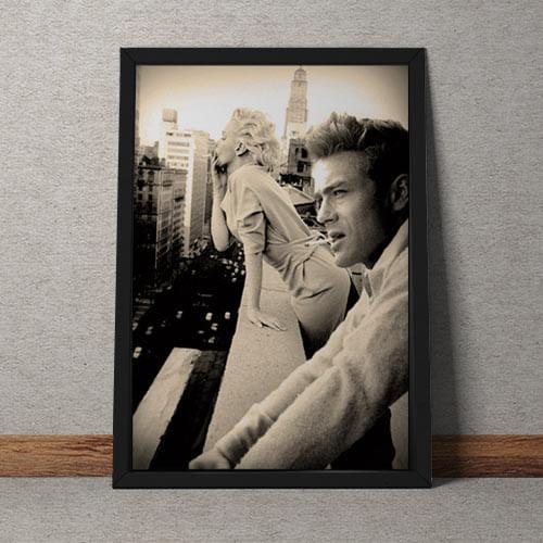 Quadro Decorativo James Dean Marilyn Monroe - Gorila Clube