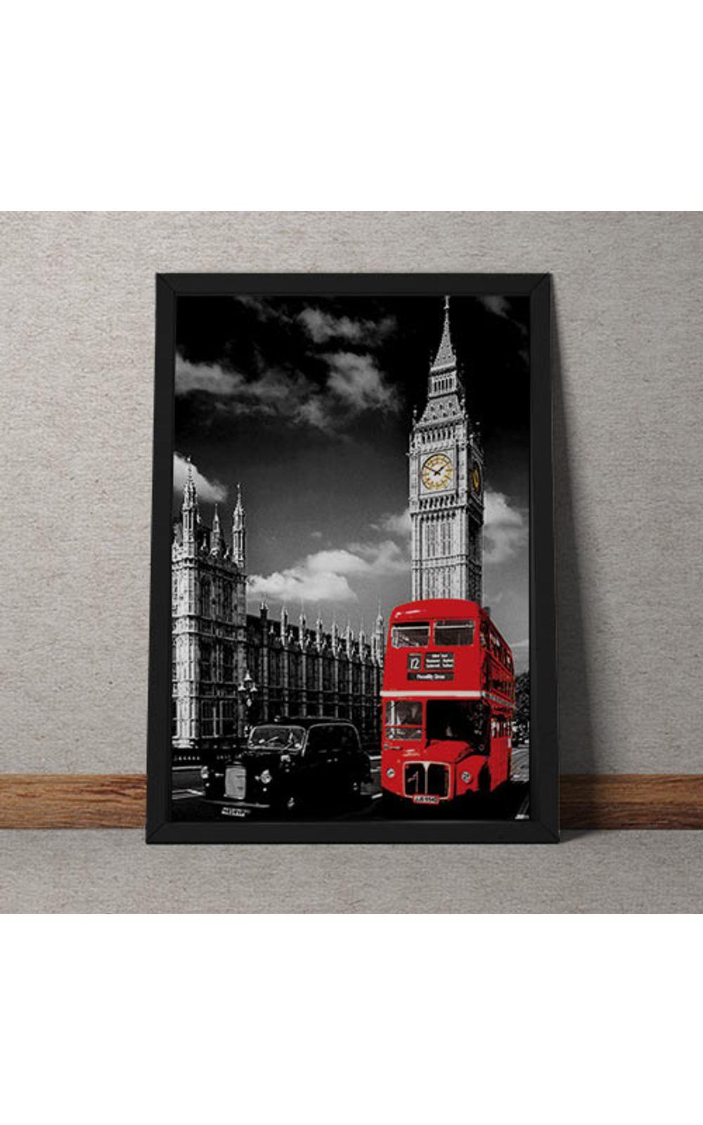 Foto 1 - Quadro Decorativo Onibus Ingles E Big Ben