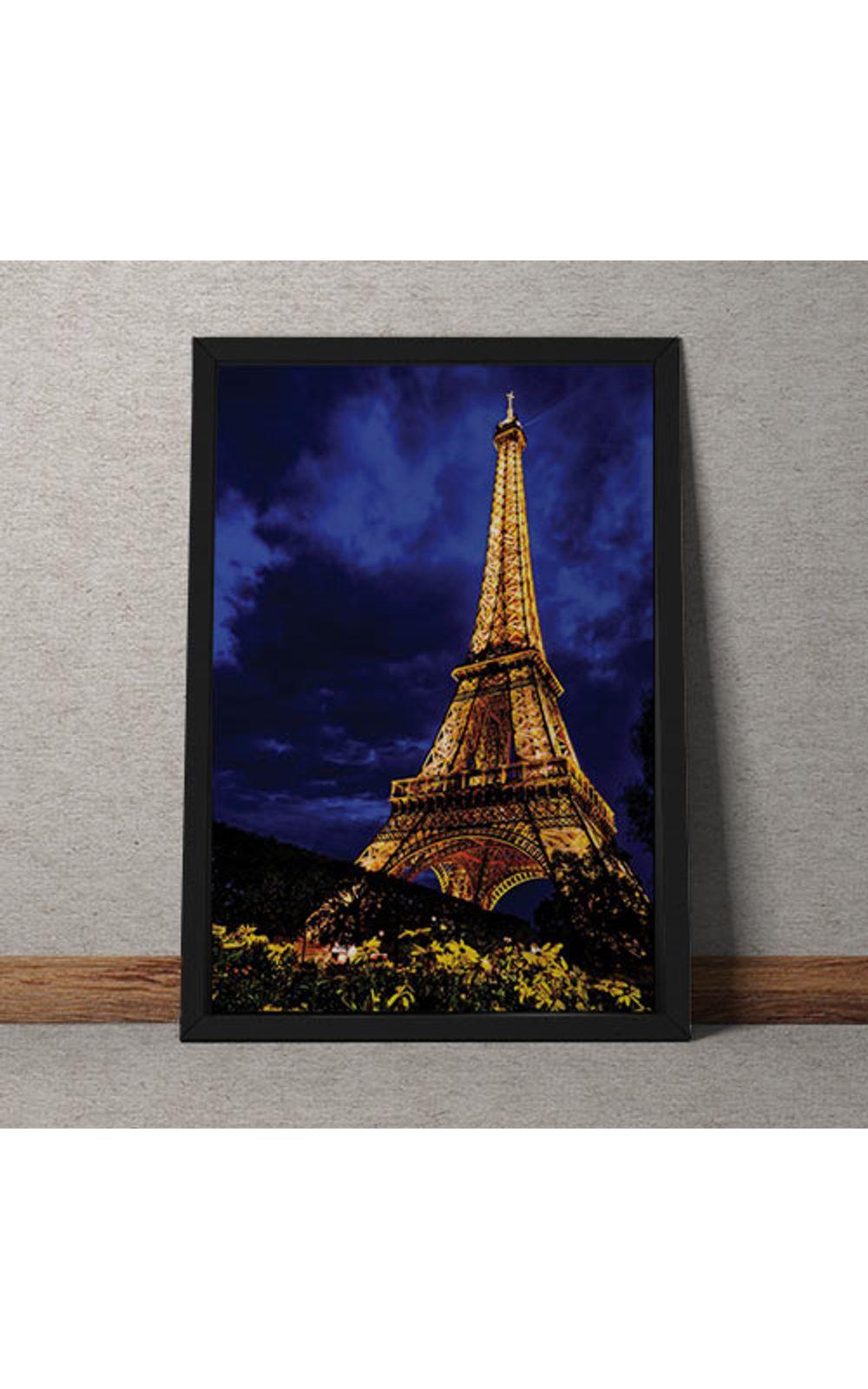Foto 1 - Quadro Decorativo Torre Eiffel Colorida