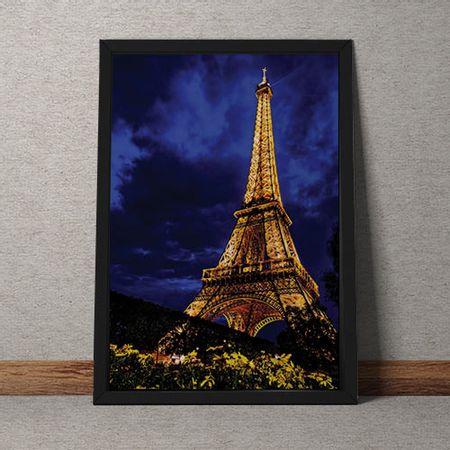 Quadro Decorativo Torre Eiffel Colorida