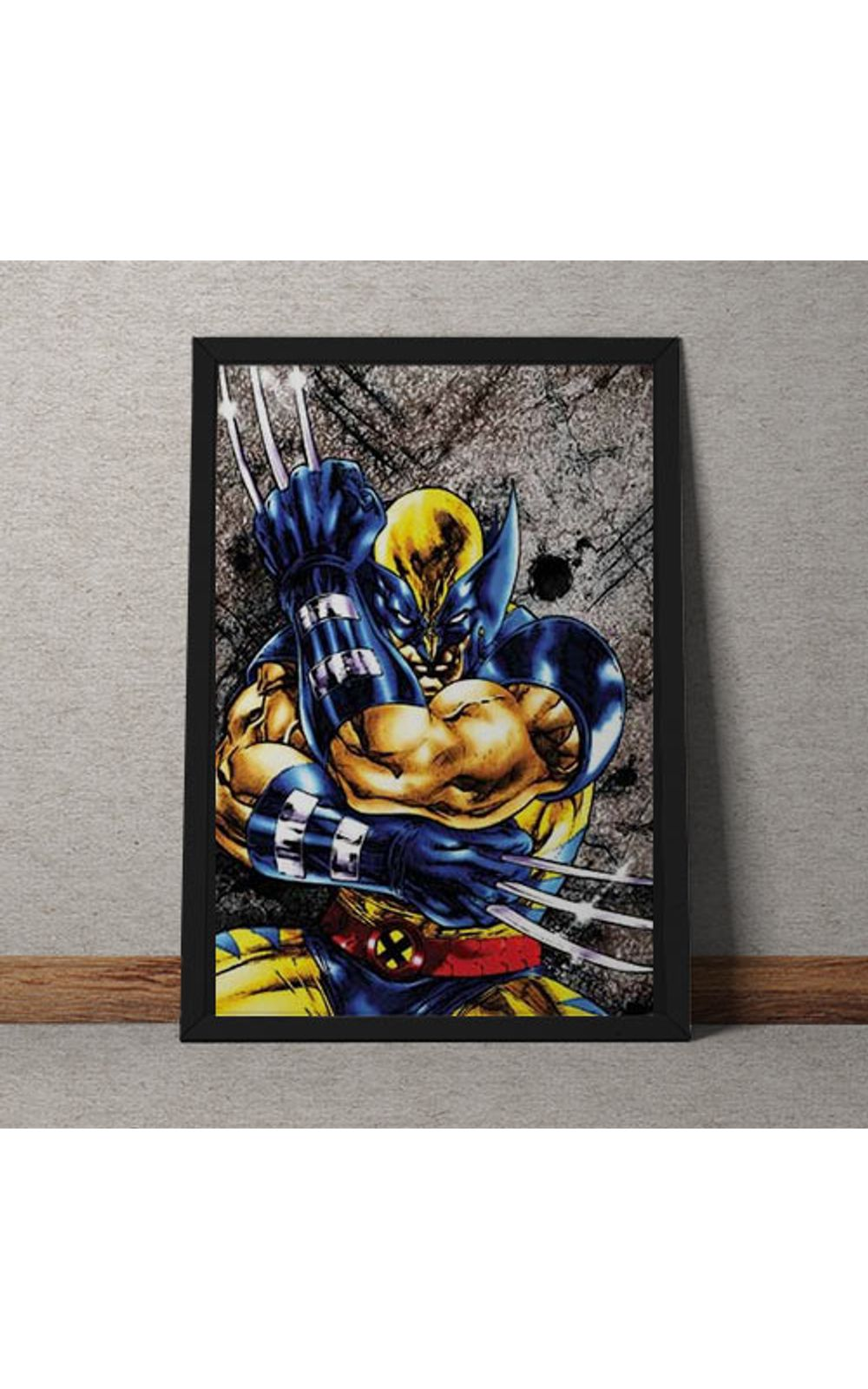 Foto 1 - Quadro Decorativo Wolverine Marvel