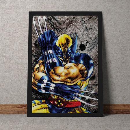 Quadro Decorativo Wolverine Marvel