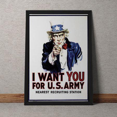 Quadro Decorativo I Want You Estados Unidos