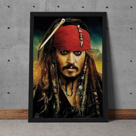 Quadro Decorativo Johnny Depp Jack Sparrow Piratas Do Caribe