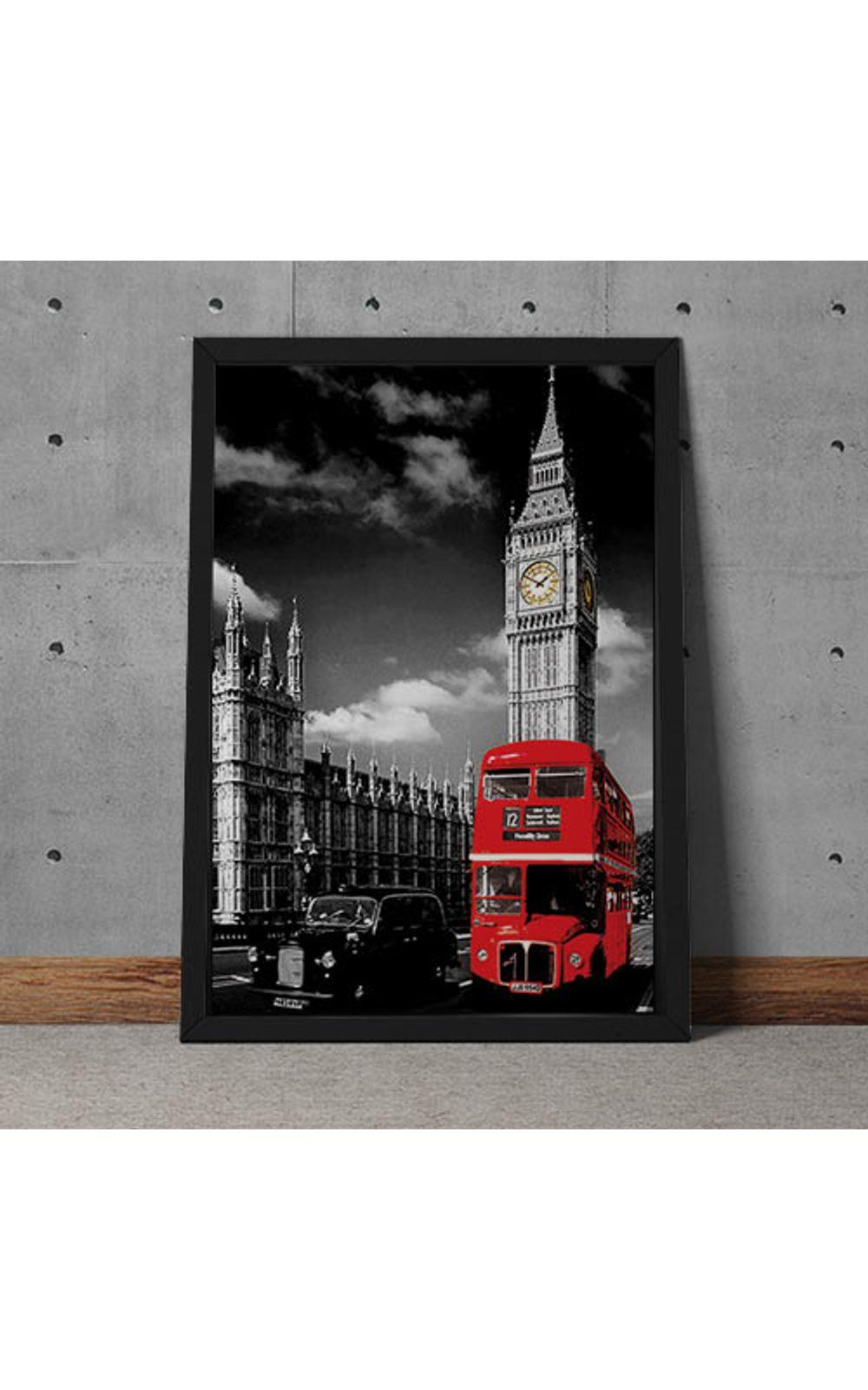Foto 2 - Quadro Decorativo Onibus Ingles E Big Ben