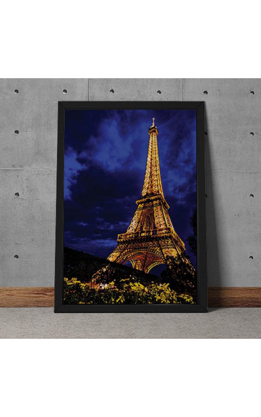 Foto 2 - Quadro Decorativo Torre Eiffel Colorida