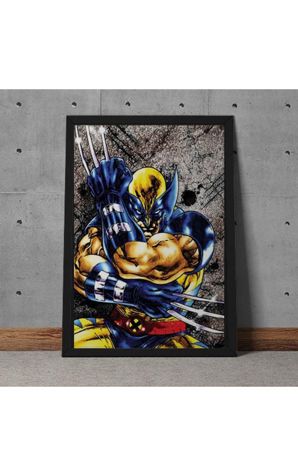 Foto 2 - Quadro Decorativo Wolverine Marvel