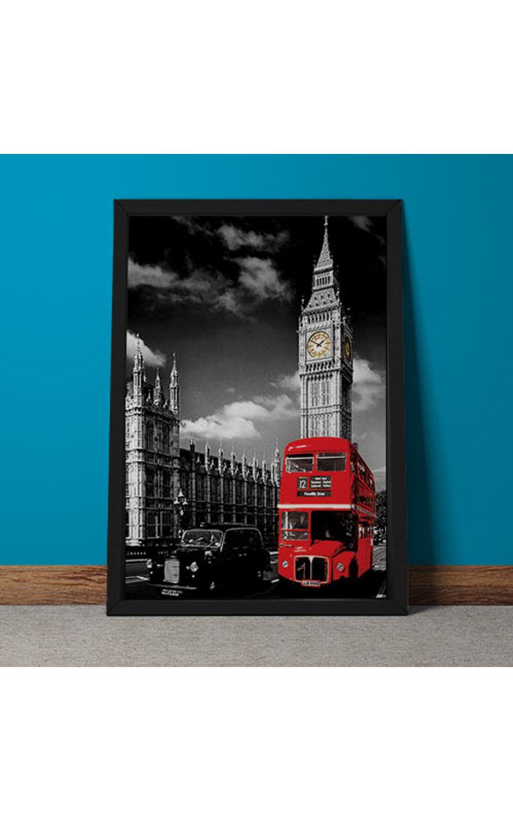 Foto 3 - Quadro Decorativo Onibus Ingles E Big Ben