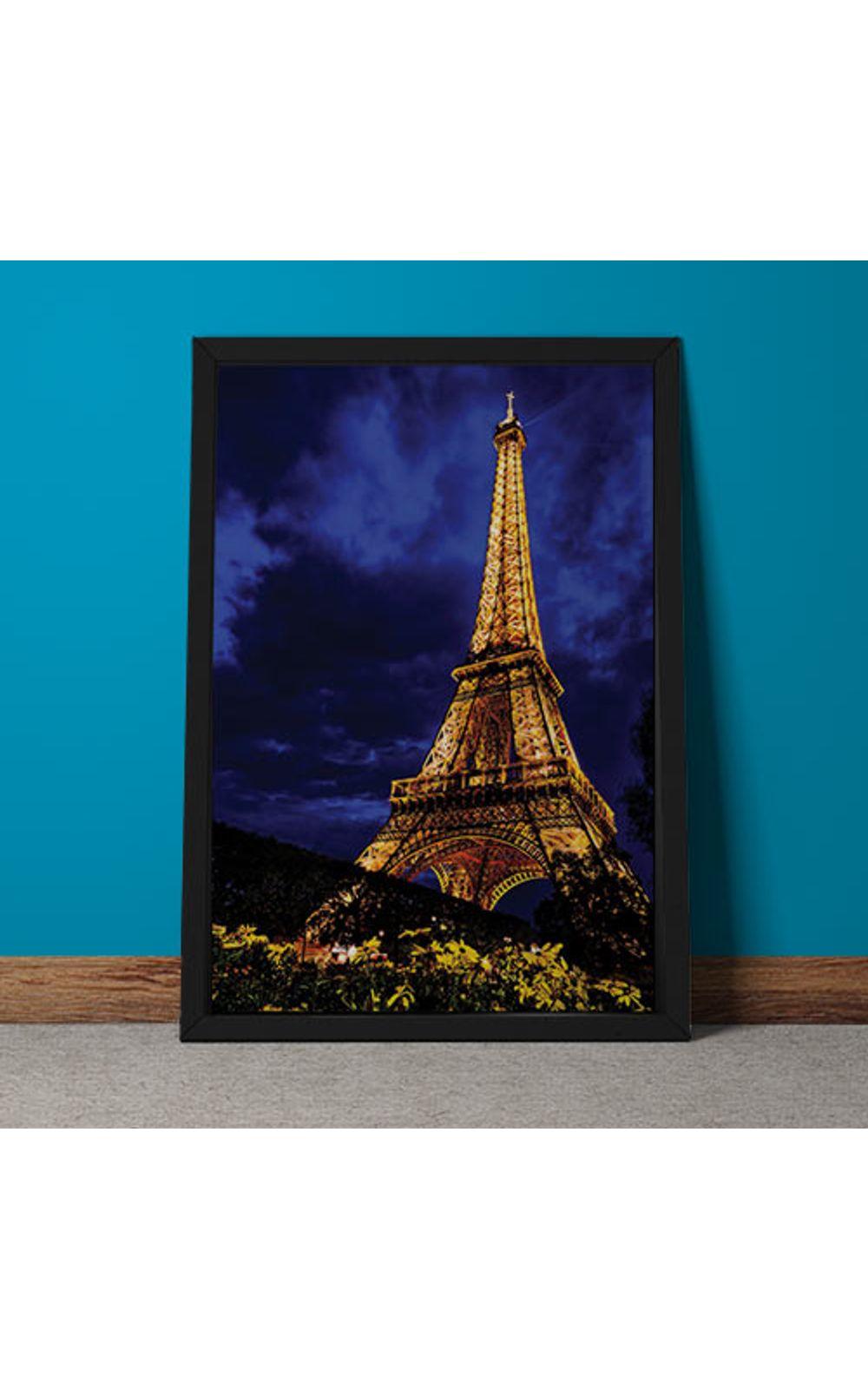 Foto 3 - Quadro Decorativo Torre Eiffel Colorida
