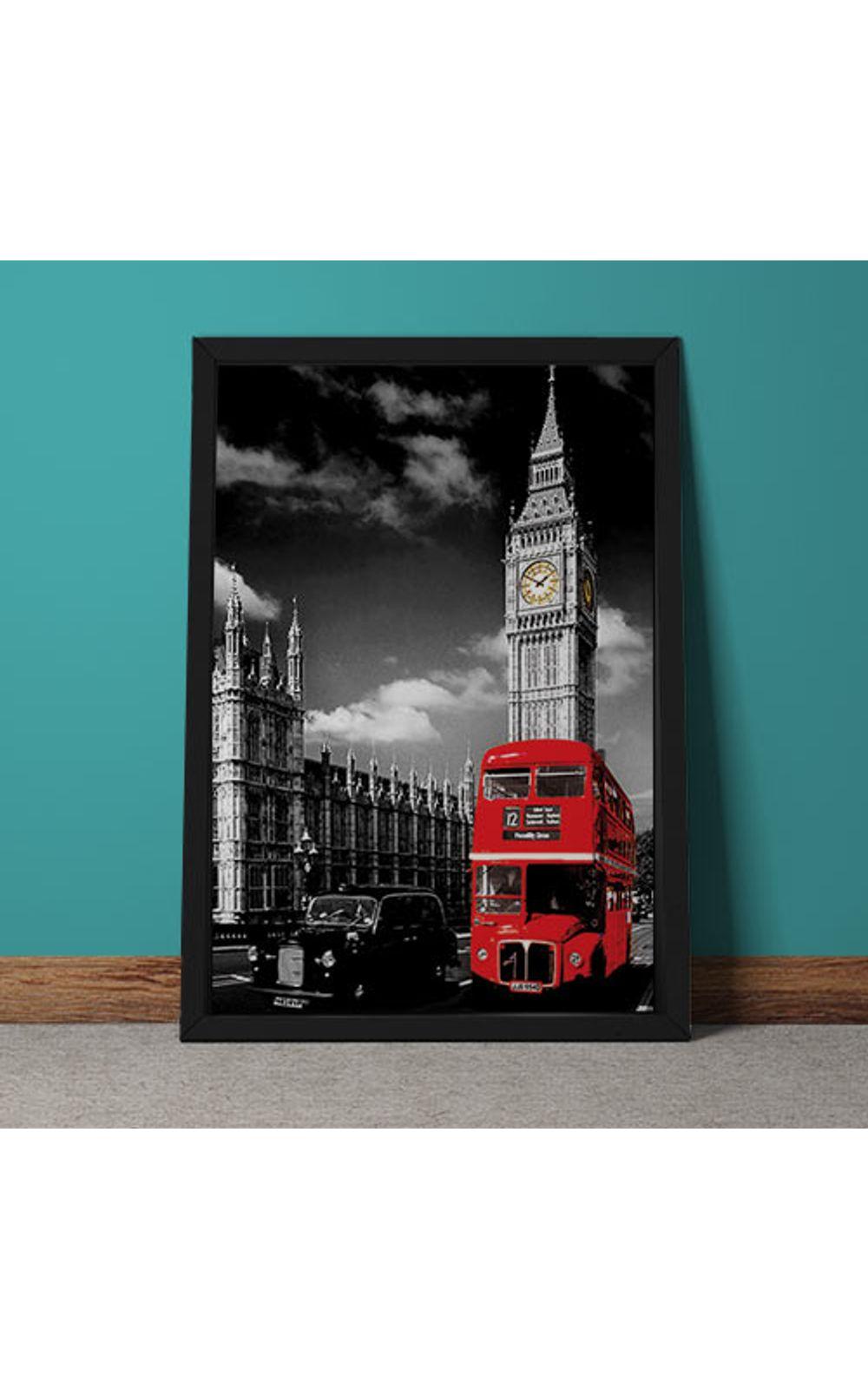 Foto 4 - Quadro Decorativo Onibus Ingles E Big Ben
