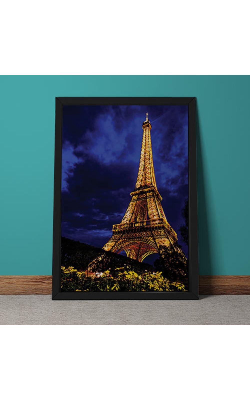 Foto 4 - Quadro Decorativo Torre Eiffel Colorida