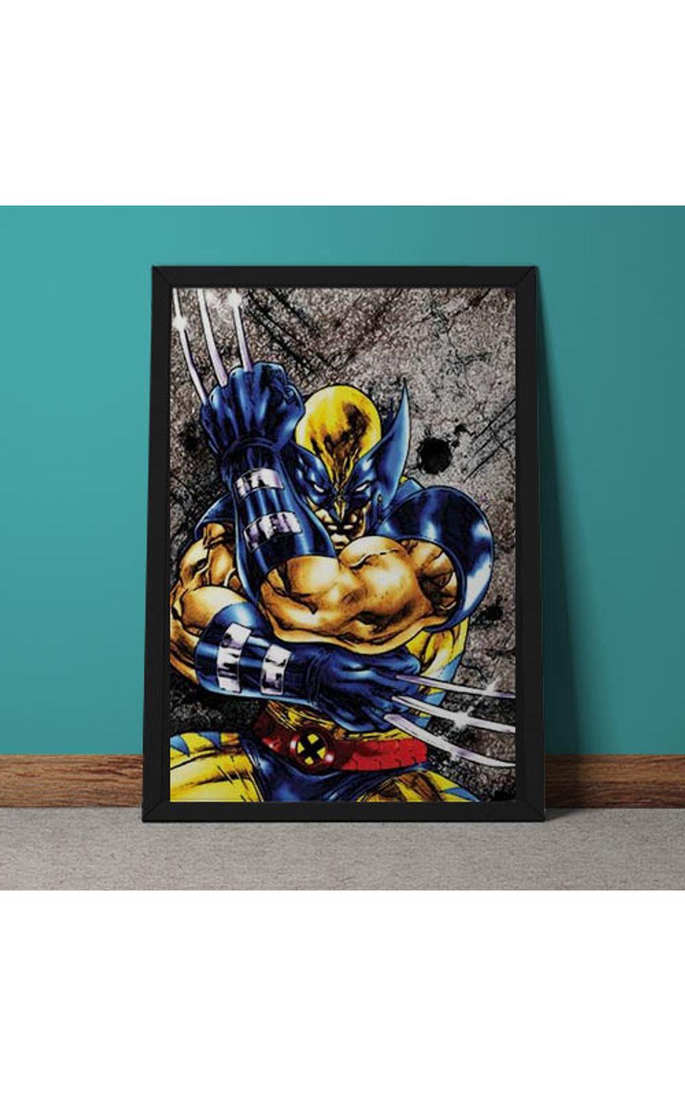 Foto 4 - Quadro Decorativo Wolverine Marvel