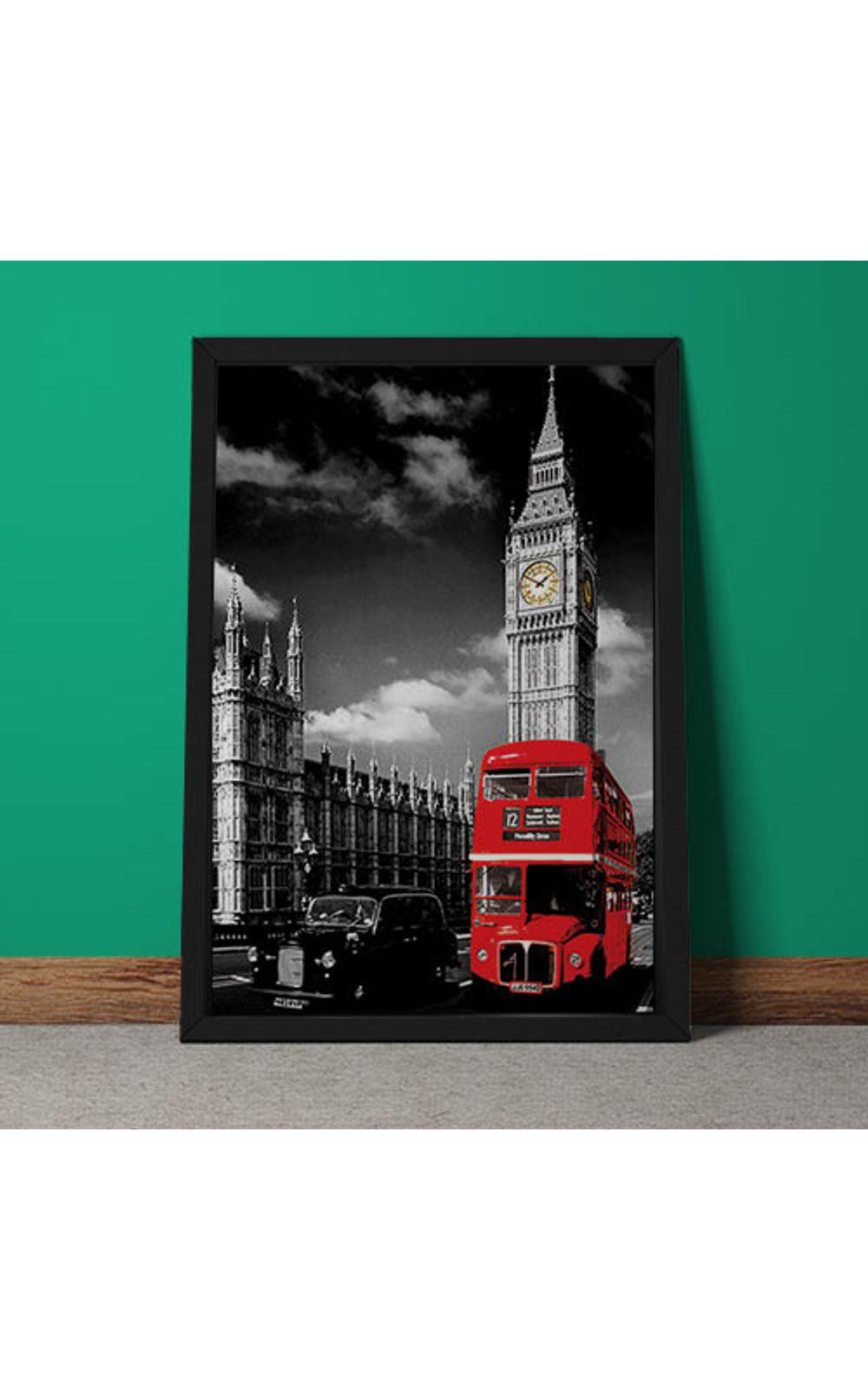 Foto 5 - Quadro Decorativo Onibus Ingles E Big Ben