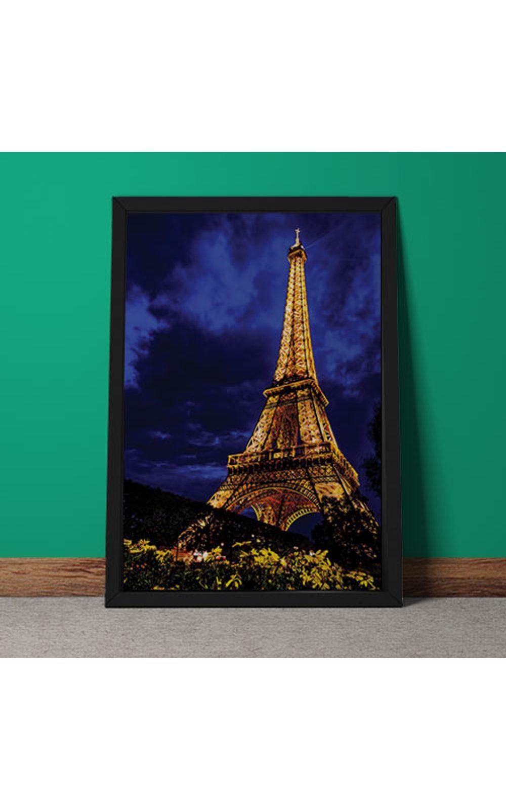Foto 5 - Quadro Decorativo Torre Eiffel Colorida