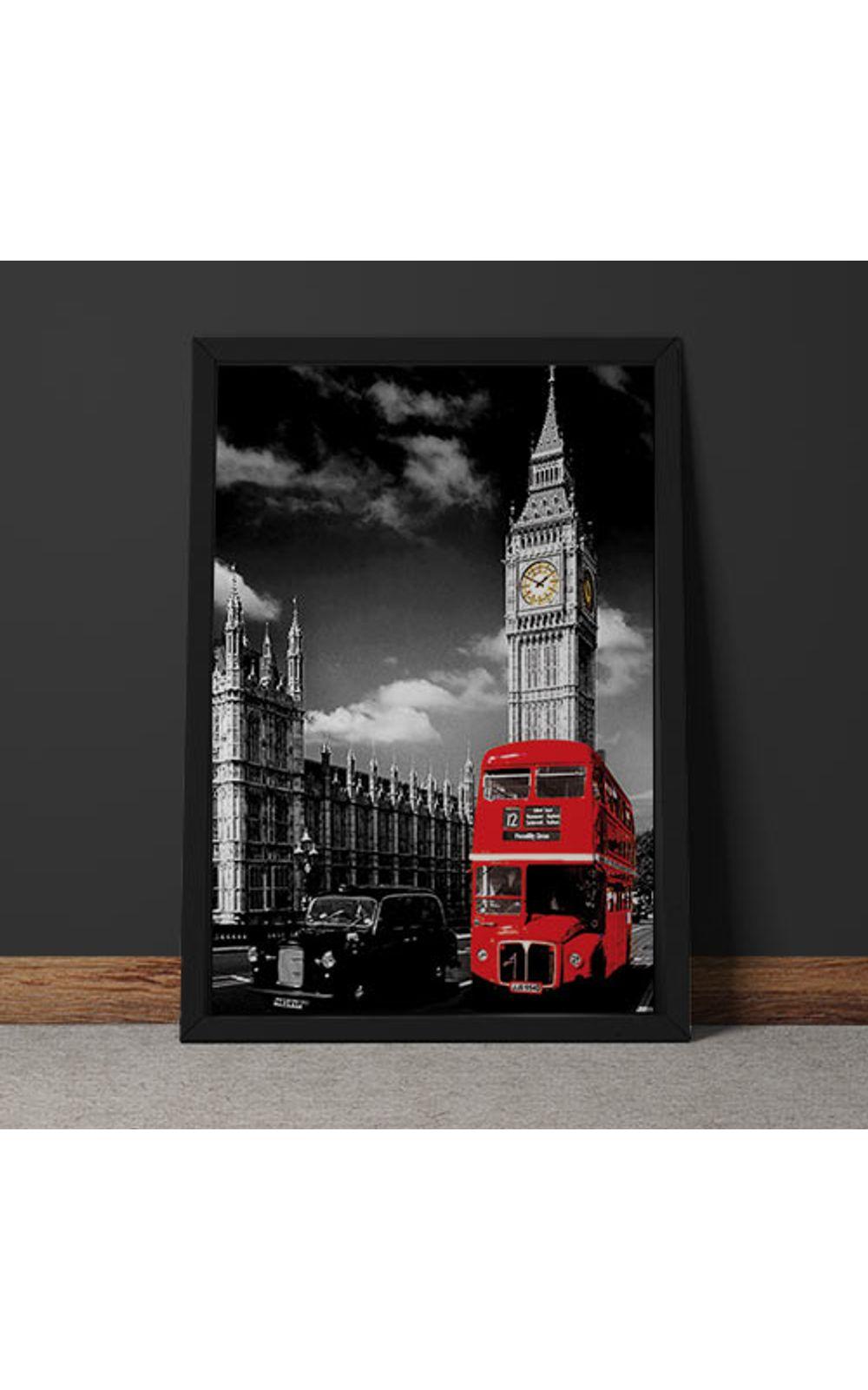 Foto 6 - Quadro Decorativo Onibus Ingles E Big Ben