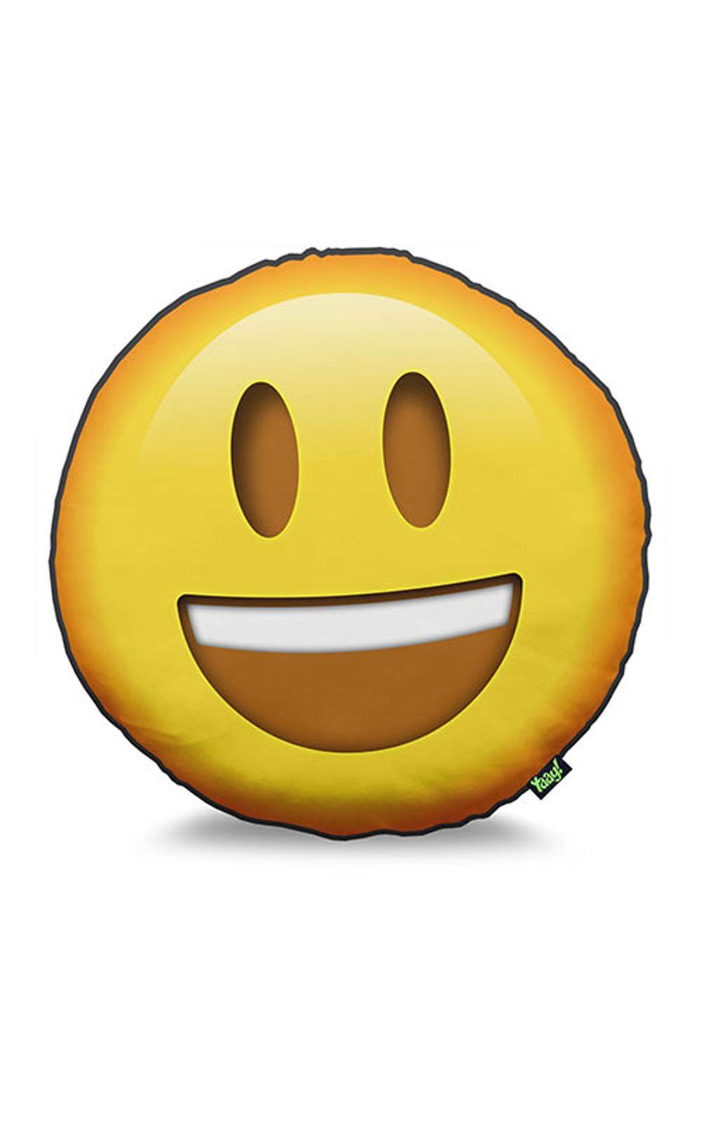 Foto 1 - Almofada Emoji Feliz Emoticon