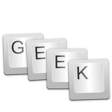 Porta Copos Teclas Geek - 4 peças